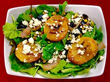 Grilled Peach Salad with Blue Cheese
